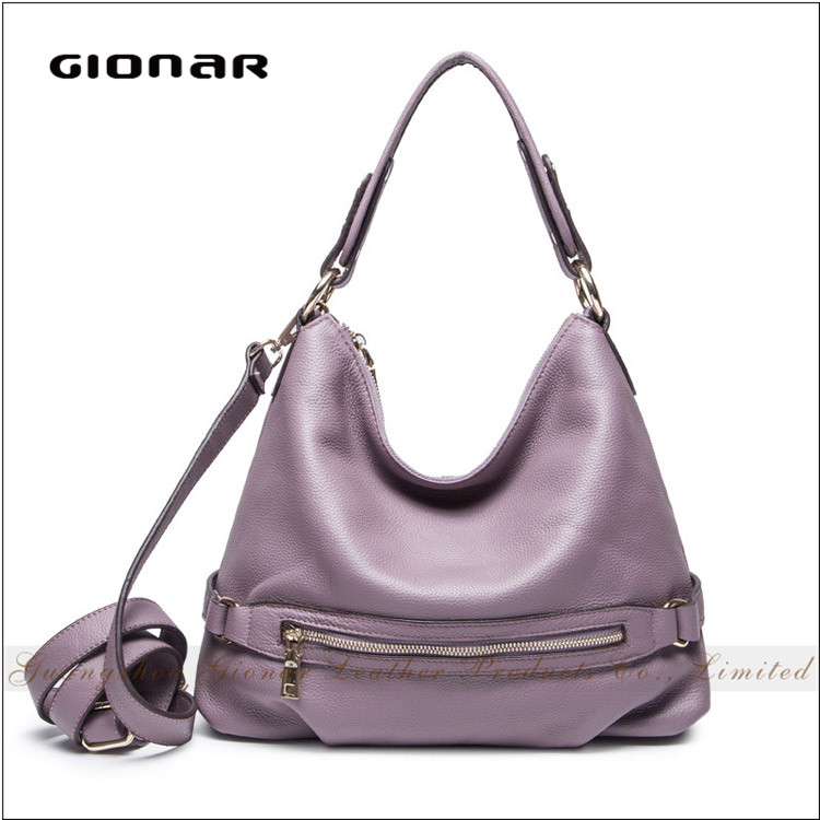 Gionar Famous Brand Sunny Girl Top Layer Genuine Leather Hobe Tote Tiding Leather Bag Top 100 Handbags