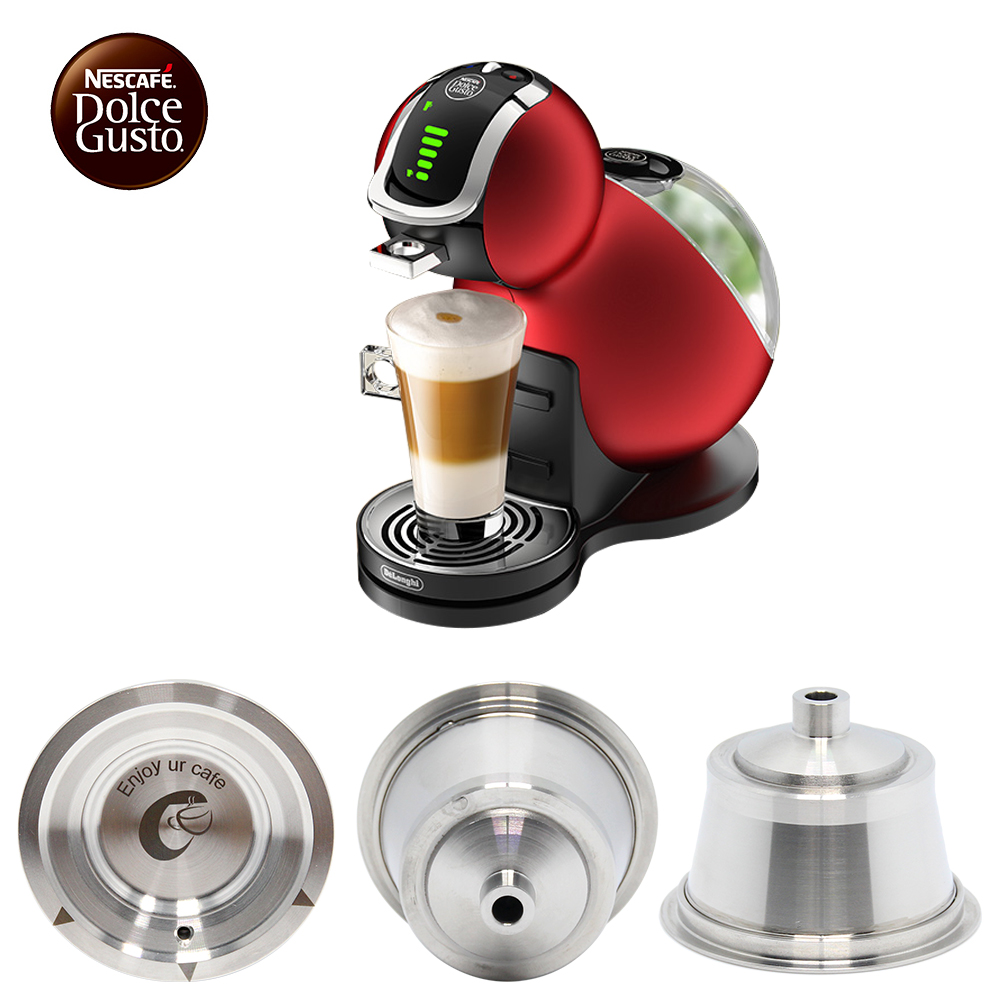 dolce gusto coffee capsule stainless steel refillable coffee capsule reusable compatible with. Black Bedroom Furniture Sets. Home Design Ideas