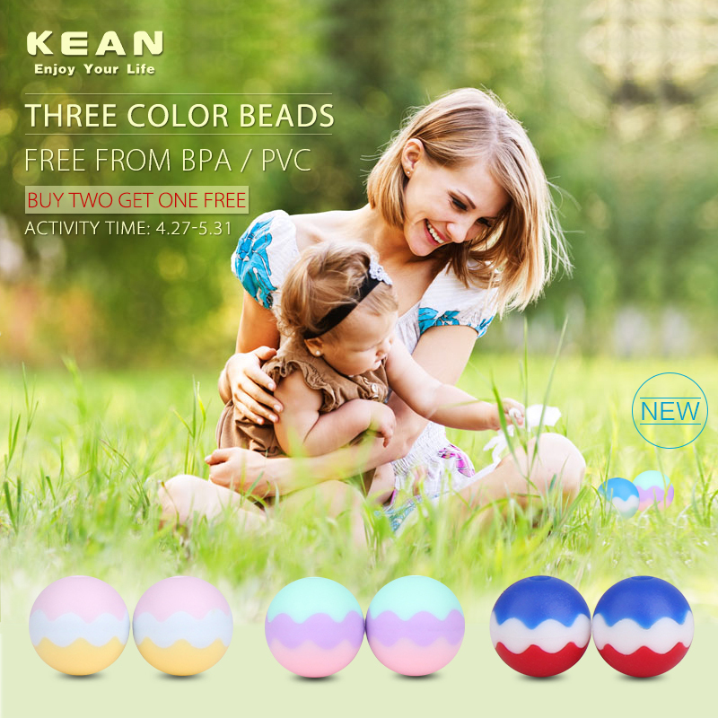 2015 China manufacturer Kean soft toys for baby Silicone teething necklace