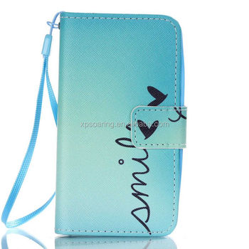 Smile wallet leather case for Lenovo A319, Tower PU flip stand case for Lenovo A319, Phone case for Lenovo A319
