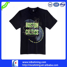 latest flashing led design basic tee t-shirt