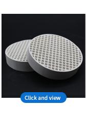 Haute alumine honecycomb agent de soutènement en céramique utilisation pour équipement mécanique protecteur
