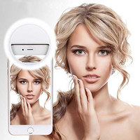 Factory price portable beauty flash LED selfie ring light for mobile cell phone