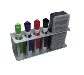 classic color Dry Erase Whiteboard Marker and Eraser Holder Tray and Organizer set