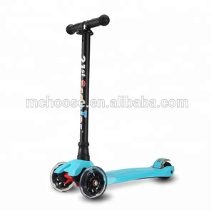 New product 120 mm and 80mm folding Kick space Scooter 3 Wheels with height adjustable For kids