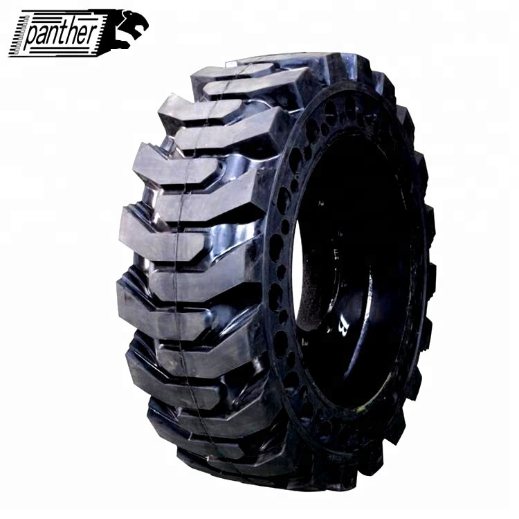 Solid rubber skid steer tires