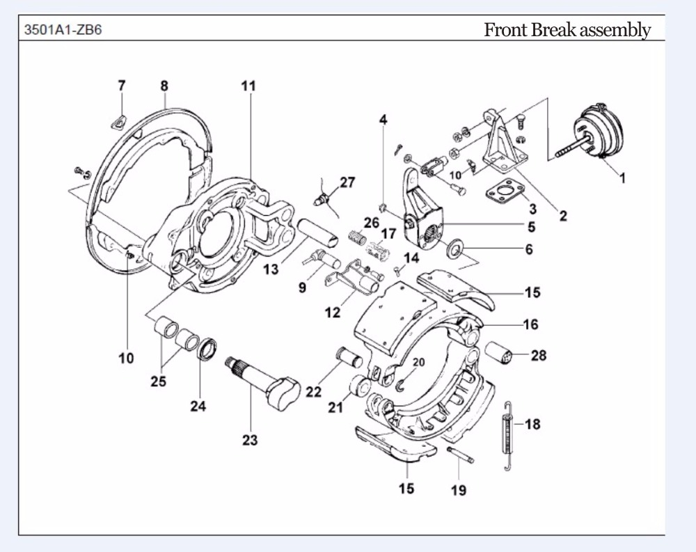 Front Disc Brake And Pad Parts Diagram Car Pictures