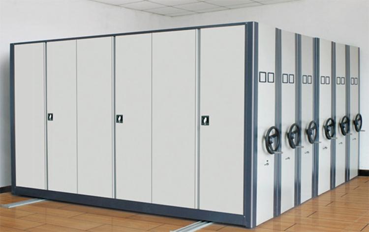 Office furniture mechanical steel mobile book shelving - Mobel reck ...