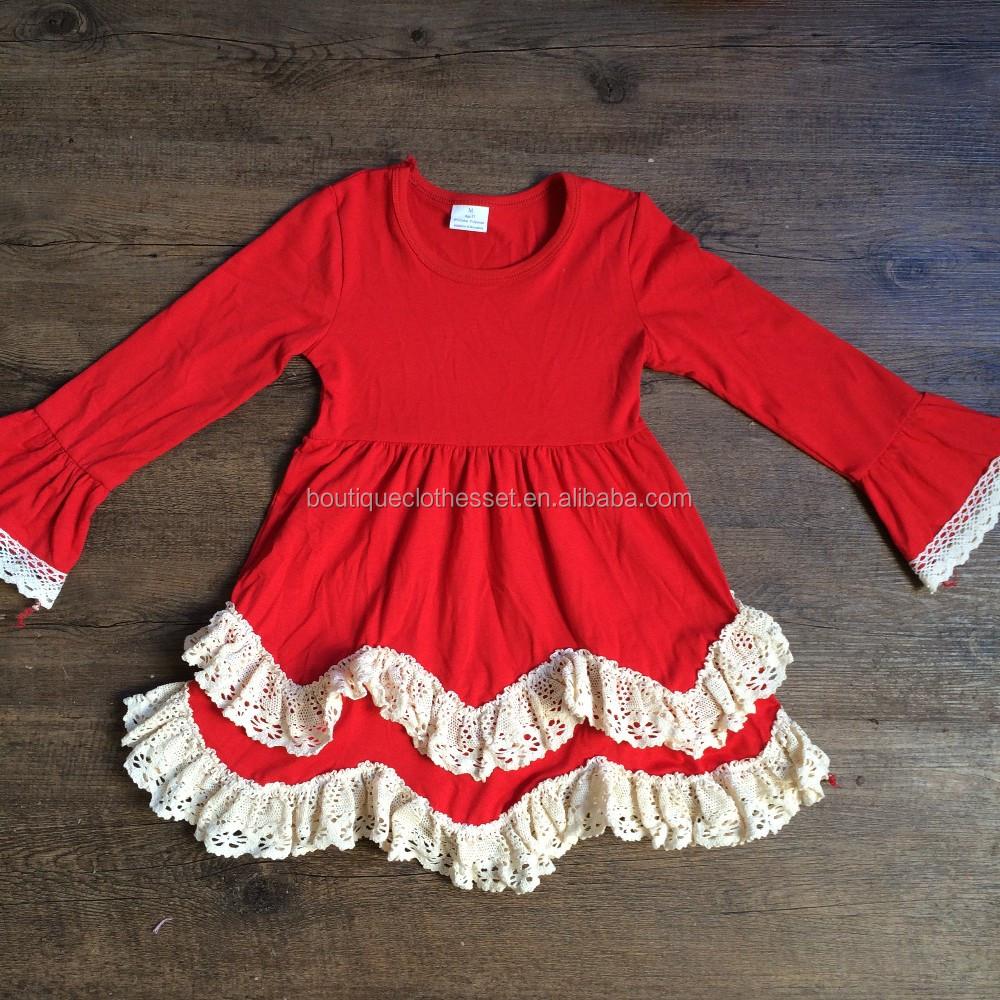 Long Sleeve Red Christmas Dress