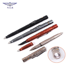 Hot selling Multifunctional Tactical Pen for Self Defense with LED light and Tungsten Tip for glass broken