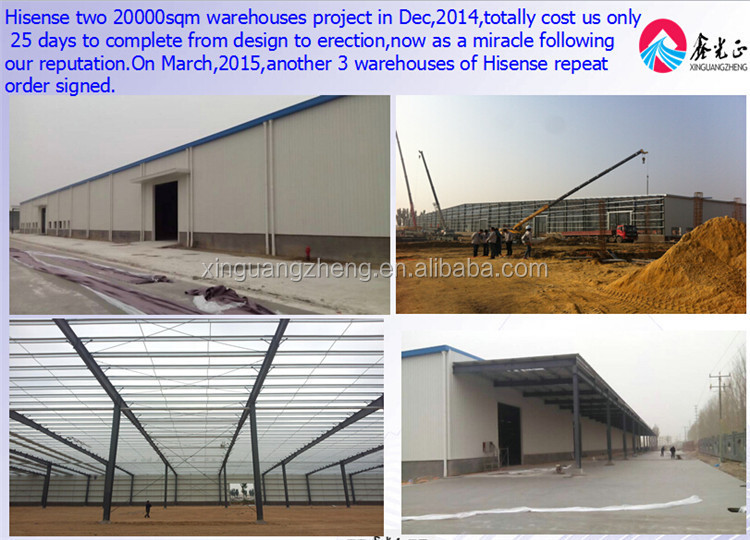 Best quality dis-assemble steel structure warehouse shed