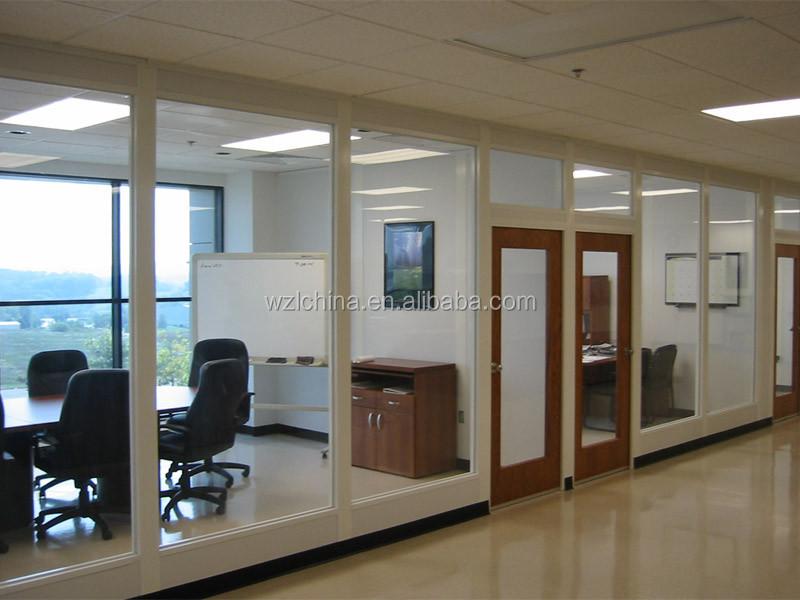 Modernes Design Alurahmen Glastrennwand/halumm Bürotrennwand/faltbare  Trennwand