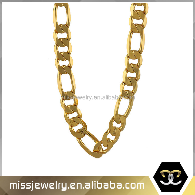 Hip Hop Style 18 Gold Plated Thick Silver Men\'s Rope Chain ...