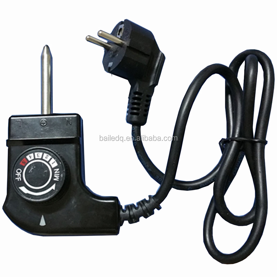 VDE approval power cord for electric grill power plug with thermostat