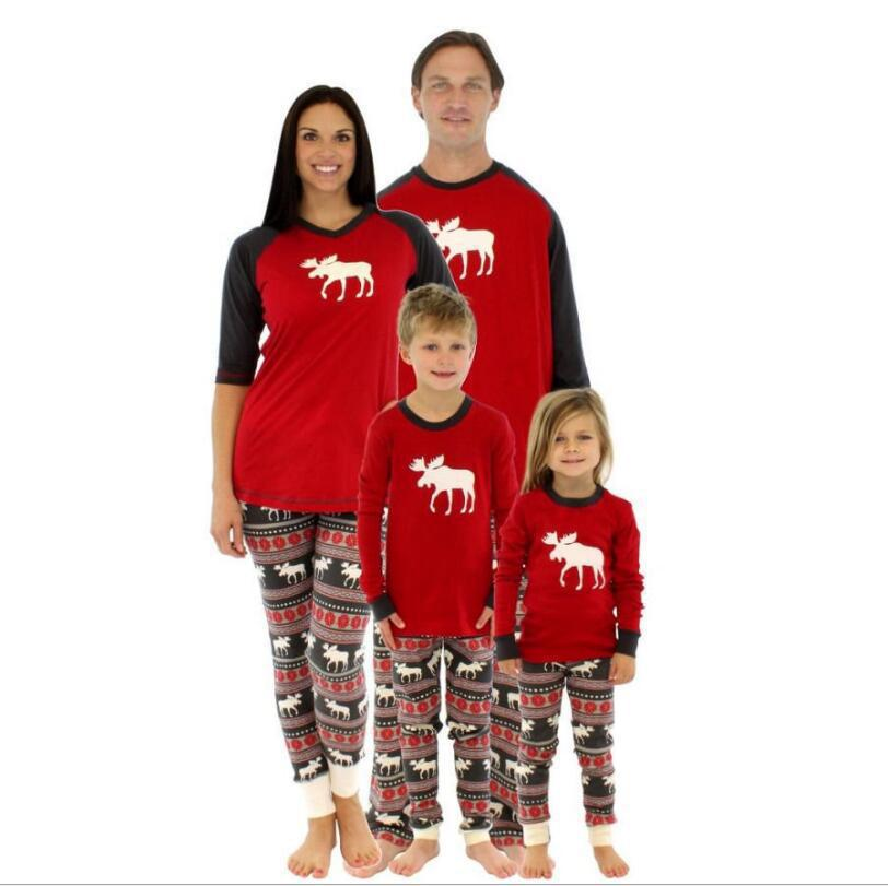 2018 Trending Products Christmas Pajamas 2pcs Child Clothes ...