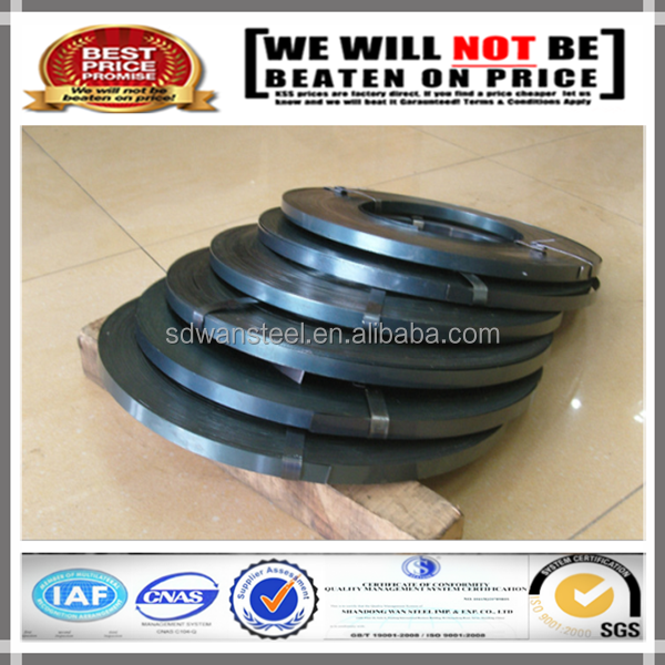 Q235B 19mm blue tempered high tensile steel strapping for packing
