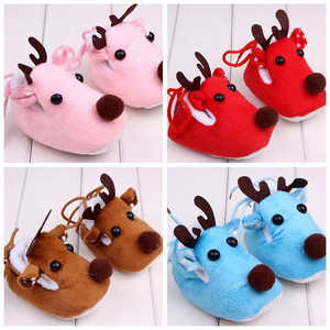 Baby Kid Infant Unisex Shoes Elk Deer Style Soft Sole Shoes Warm First Walkers