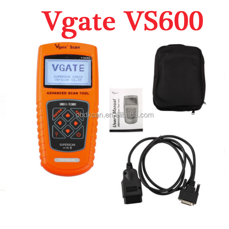 Best quality Advanced obd /obdii Vgate VS600 automotive scan tools Auto obd2 diagnostic scanner cars Universal code reader scan