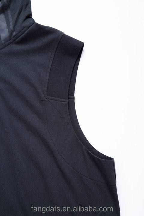 2018 new style blank different sleeveless Hoodie thin private label