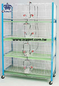 2001-A Poultry cage with Automatic Poultry Drinker