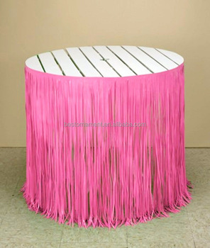 Metallic Shimmer Party Float Decorations Table Skirt
