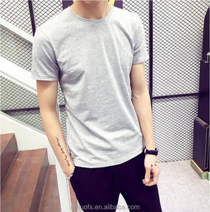 2018 Simple great plain stylish blank t-shirt for men