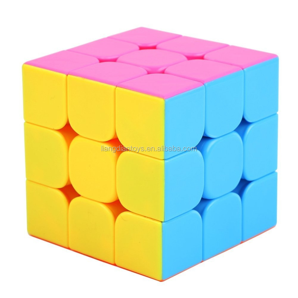 3x3x3 Speed Cube Puzzle, Small, High Bright Pink