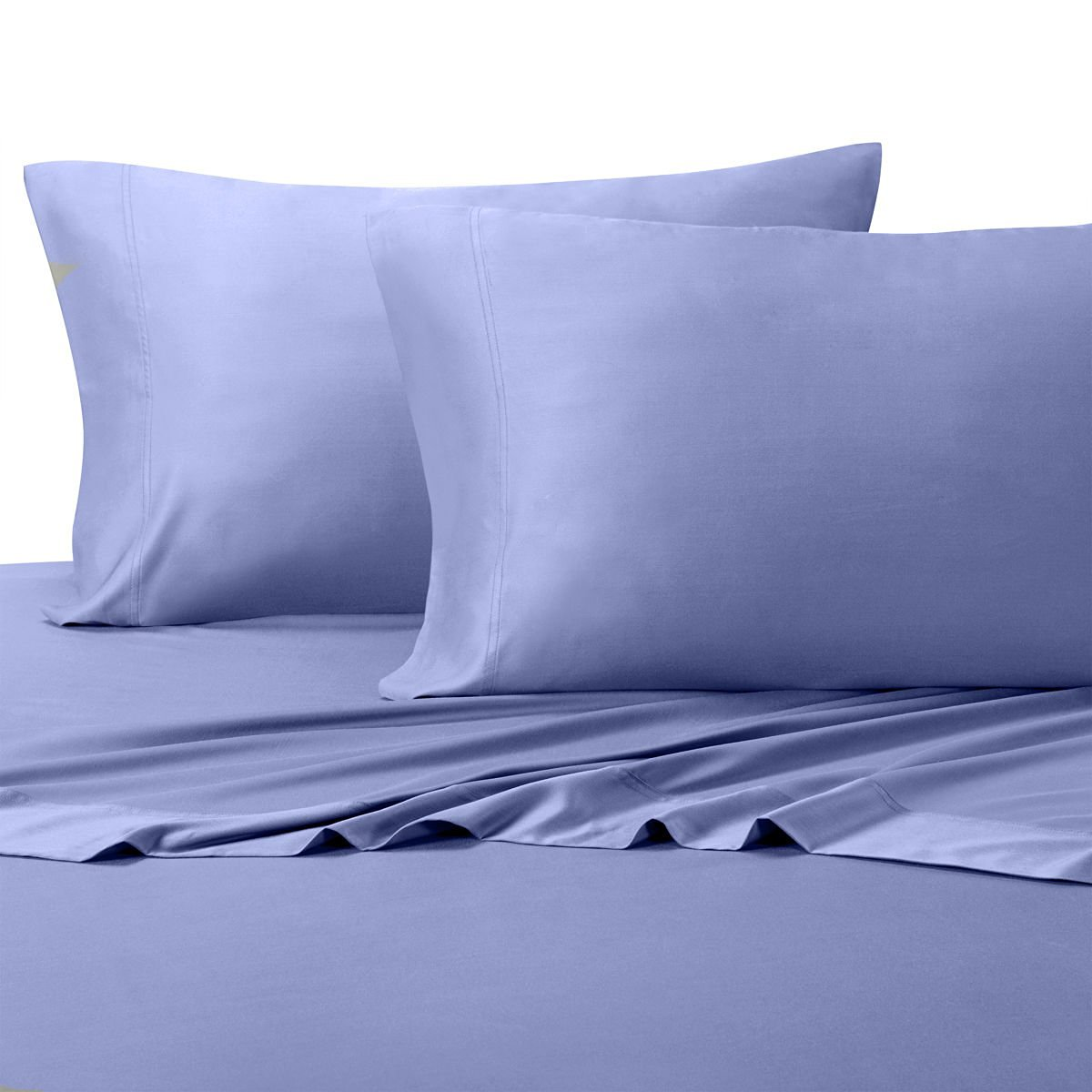 "Silky and Soft Bamboo Blend Sheets, 60% Viscose from Bamboo / 40% Cotton Hybird Weave Sheet Set, Hypo-Allergenic, 18"" Pockets, Periwinkle, 3 Piece Twin Extra Long (Twin XL) Size Deep Pocket Sheet Set"