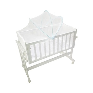 Solid wooden baby swing cot baby bed for new born baby