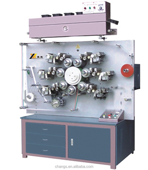 2/3/4/6/7/8 color Satin/Ribbon/Paper/Fabric/Elastic tape/Flexographic Label Printing Machine for sale