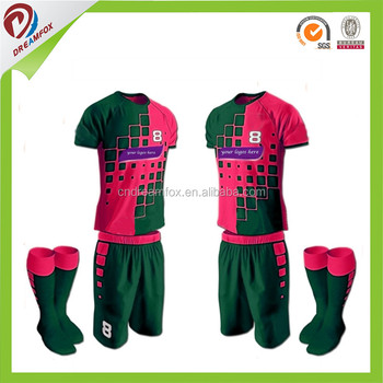 ce568610828 wholesale china soccer jerseys customized design sublimation printing china  cheap sportswear custom cheap football kits china