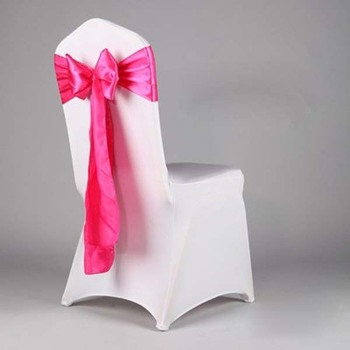 2017 Best Sale Wedding Velvet Chair Covers Sash Plain Graduation Sashes