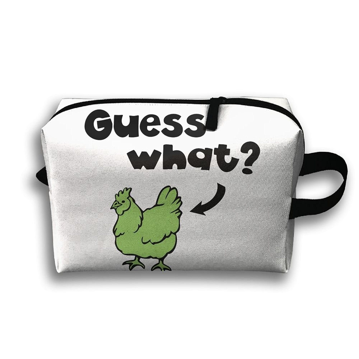 97cfcdd60b1b Get Quotations · Travel Bags Guess What-Chicken Butt Portable Storage Bag  Clutch Wallets Cosmetic Bags Organizer Zipper