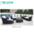 Selected Material Modern Luxury Outdoor Rattan Furniture sofa table chair set for hotel swimming pool