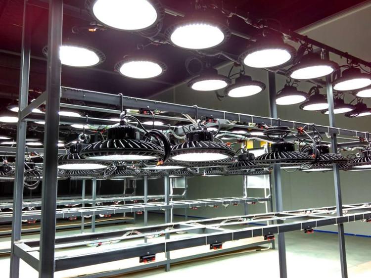 Factory warehouse industrial 50w 100w 150w 200w LED UFO led high bay light housing