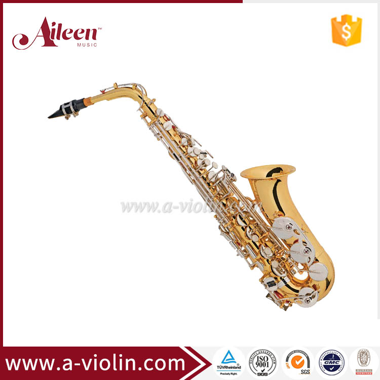 Hot sale Yellow Brass Alto Saxophone With Premium Case(SP1012G-N)