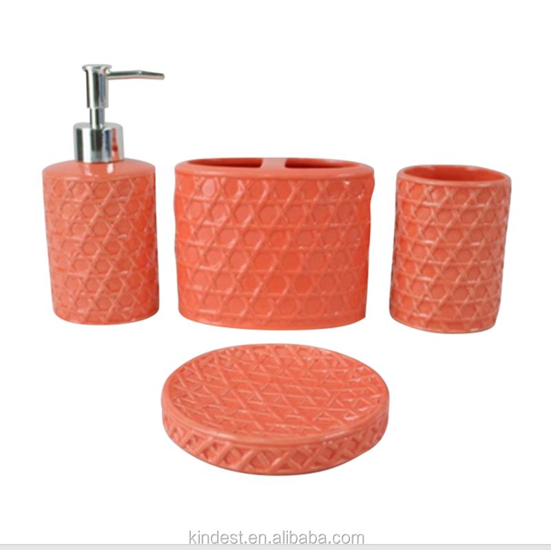 ceramic orange bathroom accessories ceramic orange bathroom accessories suppliers and manufacturers at alibabacom - Bathroom Accessories Orange