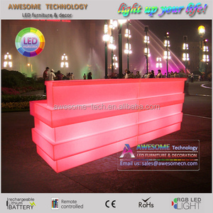 Unique led light up Dj booth desk table for event party and pub