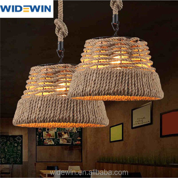 Restaurant decoratie hanglamp d380mm fltting jute touw kroonluchters en hanglampen product id - Restaurant decoratie ...