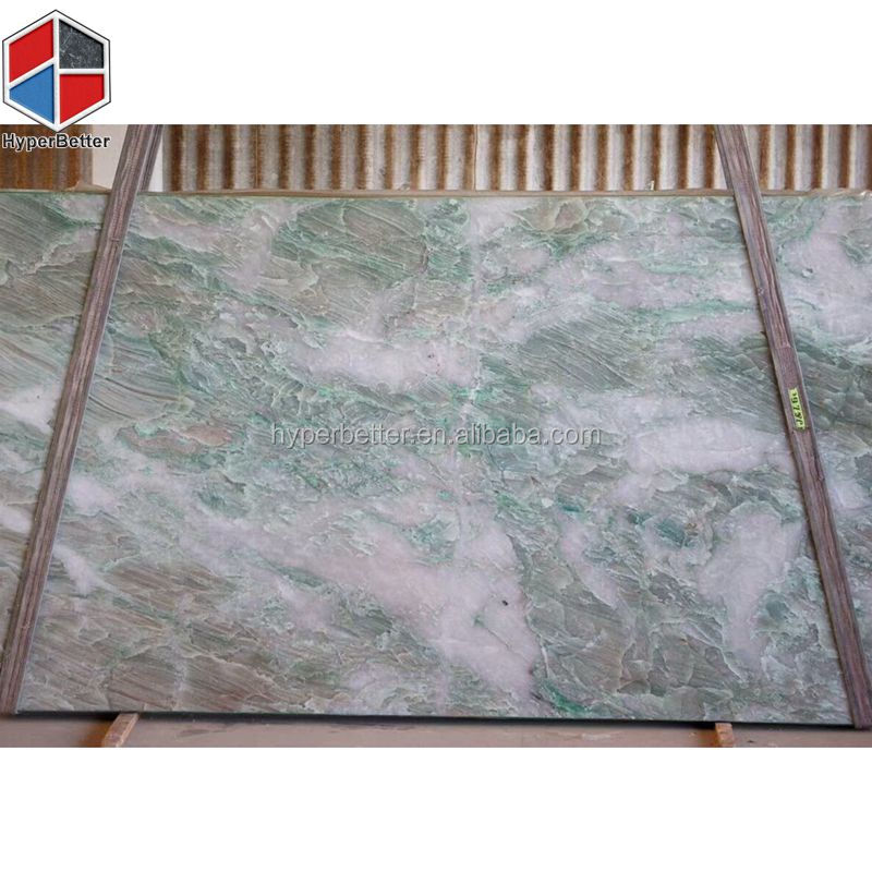 Cut to size cyan green nature marble slab from Xiamen