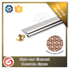 Polished silver wall external metal tile trim for marble edge