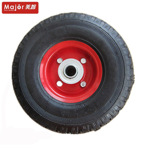 260x85 3.00-4 solid rubber airless tire wheel for trolley