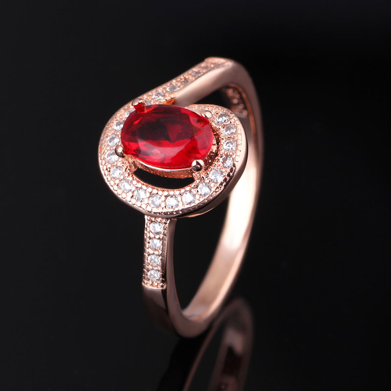 colored glass rose gold plating 925 sterling silver finger rings for ladies with price