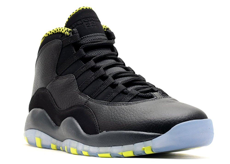 best website 04be1 495ee Get Quotations · Ambar Zuiga Jurado Synthetic Basketball Shoe Air Jordan  Retro 10 venom Black vnm green cl gry