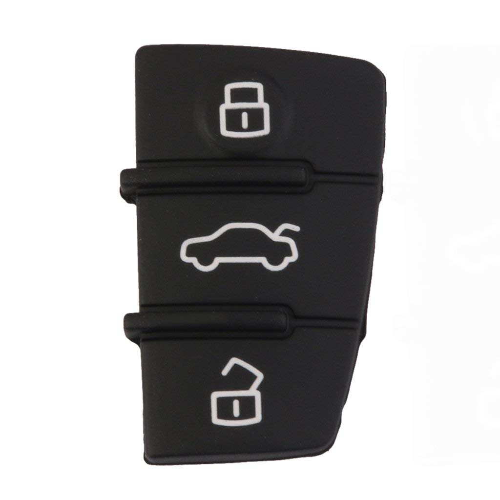 Flameer 3 Button Rubber Pad Replacement For Audi A3 A4 A5 A6 A8 Remote Key Case