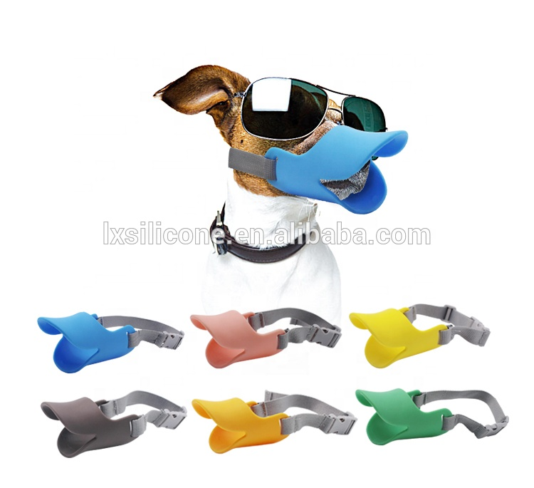 Factory Wholesale Adjustable Safety Silicone  Duck Mouth Shape Dog Mouth Covers For Dogs