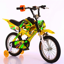 New Products 2017 Kids Motorcycle Bike 12 16 20 Inch Suspension Bike 4 Wheels Moto Design Kid Bicycle