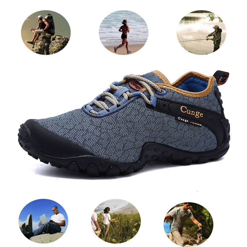 Men Outdoor Trekking Riding Waterproof Hunting Climbing Boots Safety Work hiking breathable summer hiking shoesFactory price