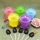 4 Piece Suit Cover Shovel Multicolor Plastic Mousse DIY Flowerpot Cake Cup