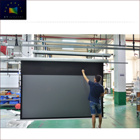 4K Home Theater Top Grade Fashional Ambient Light Rejecting Black Diamond Projector Screen Electric EC1-Black Crystal